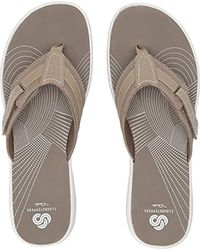 Clarks - Brinkley Reef Boxed (taupe Synthetic) Sandals - Lyst