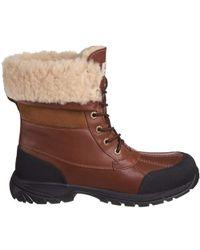 UGG Butte Waterproof Leather & Suede Boot - Brown
