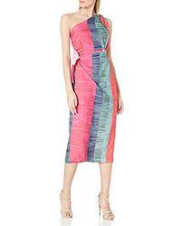 Mara Hoffman Bette One Shoulder Midi Dress - Pink