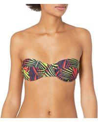 MILLY Palm Print Italian Swim Maxime Underwire Bikini Top - Multicolor