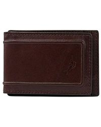 Tommy Bahama Leather Rfid Magnetic Front Pocket, Brown, One Size