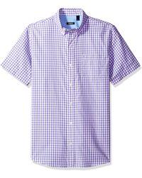 IZOD Mens Breeze Short Sleeve Button Down Gingham Shirt
