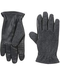 Izod Wool Touchscreen Gloves With Fleece Lining - Gray