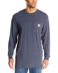 Carhartt Workwear Jersey Pocket Long-sleeve Shirt K126 - Blue