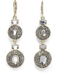 Vince Camuto Double Drop Lever Earrings - Metallic