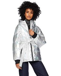 7 For All Mankind Belted Down Jacket - Metallic
