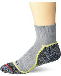 Merrell 1 Pack Cushioned Trail Glove Runner Socks - Grey