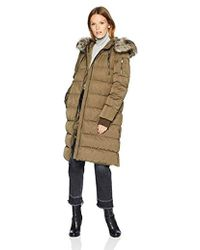 BCBGeneration Duffle Coat With Faux Fur Hood - Green