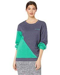 BCBGMAXAZRIA Asymmetric Colorblocked Sweatshirt - Blue