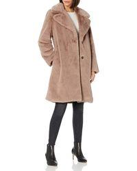 The Drop Kiara Loose-fit Long Faux Fur Coat - Natural