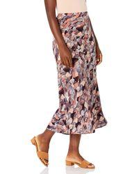 Nine West Printed Midi Skirt - Brown