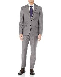 DKNY All Wool Slim Fit Suit, Mauve, 42 Short - Gray