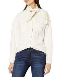 C/meo Collective Explanatory Long Sleeve Pocket Shirt - White