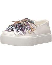 Kenneth Cole Jayson Slip On Platform Sneaker Pom - White