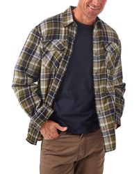 Wrangler Long Sleeve Sherpa Lined Shirt Jacket Button Down Hemd - Mehrfarbig
