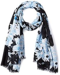 Calvin Klein - Border Lily Scarf, Serene One Size - Lyst