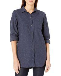 Goodthreads Heavyweight Flannel Oversized Boyfriend - Blue