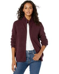 Daily Ritual Cozy Boucle Zip-front Cardigan - Multicolor