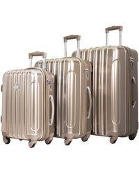 "Kensie 3 Piece ""alma"" Light Metallic Style Tsa-lock Spinner Luggage Set"