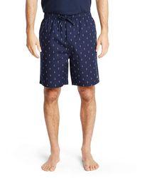 Nautica Shorts aus weicher gewebter 100% Baumwolle mit elastischem Bund - Blau