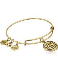 ALEX AND ANI Texas Tech College Logo Charm Wire Bracelet - Metallic
