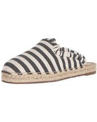 886138307 Kate Spade - Laila Mule Black cream Striped Canvas 5.5 Medium Us - Lyst