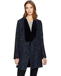 cdd829c3fff4 Elie Tahari Lory Stargazer Wool Coat in Blue - Lyst