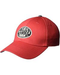 Nautica Twill Adjustable Baseball Cap Hat, Rose Coral, One Size - Multicolor