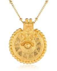 Satya Jewelry - Classics Gold Long Mandala Pendant Necklace (36-inch) - Lyst