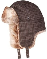 cf14ed6f806 Lyst - Levi s Men Buffalo Plaid Trapper Hat Black Gray Small  Medium ...