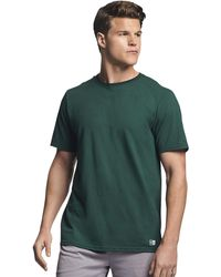 Russell Athletic Performance Cotton Short Sleeve T-shirt - Green