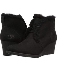 090e8ce860e1 Lyst - UGG Myrna Wedge Boots in Black