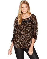 Tracy Reese - Shirred Blouse In Petite Fleur - Lyst