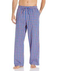 Tommy Hilfiger Poplin Woven Drawstring Pajama Pant Pyjamahose - Blau
