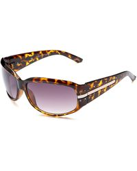 Franco Sarto Paige Resin Sunglasses,tortoise Frame/gradient Smoke Lens,one Size - Brown