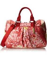LeSportsac Signature Travel Satchel Handbag,morning Mum,one Size - Red