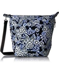 Vera Bradley Womens Signature Cotton Carson Hobo - Blue