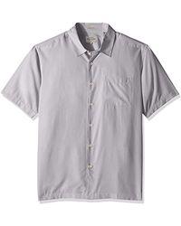 Quiksilver Waterman Cane Island Button Down Shirt, White, Xxl