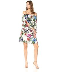 dd1b4b58e Lyst - Donna Morgan Alexis Sleeveless Top & Skirt Set in Natural