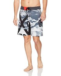 Reebok - 4 Way Stretch Fixed Waist Swim Trunk - Lyst