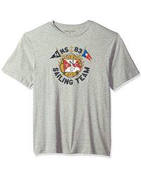 4fc4049ea5cc Nautica - Big And Tall Short Sleeve Signature Graphic Crewneck T-shirt -  Lyst