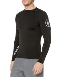 Volcom Hotainer Long Sleeve Upf 50+ Rashguard - Black