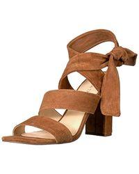 cadc83df54e Lyst - Ivanka Trump Garver Women Open Toe Leather Tan Sandals in Natural