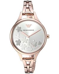Emporio Armani - 'dress' Quartz Stainless Steel Casual Watch, Color:rose Gold-toned (model: Ar11108) - Lyst