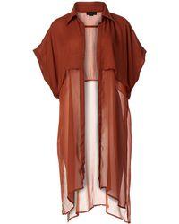 Steve Madden Solid Trench Kimono - White