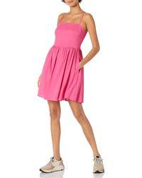 Goodthreads Georgette Smock-Back Cami Mini Dress Vestito - Rosa