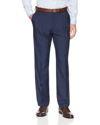 Franklin Tailored Expandable Waist Classic-fit Pleated Dress Pants - Blue