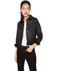 AG Jeans Robyn Fitted Stretch Denim Jacket - Black