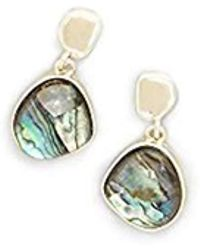 Kenneth Cole - Gold And Abalone Drop Earrings - Lyst