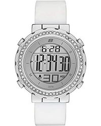 Skechers - Faymont Quartz Metal And Silicone Digital Watch Color: White (model: Sr6015) - Lyst